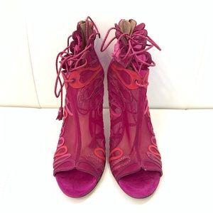 Jimmy Choo Shoes - JIMMY CHOO Lace Up Heels Sz 40.5